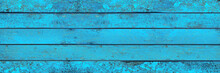 Turquoise Light Blue Wood Pano...