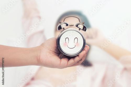 Fotografia  Good Morning concept,The alarm clock.