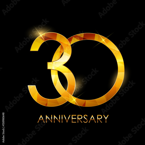 Poster  Template 30 Years Anniversary Congratulations Vector Illustratio