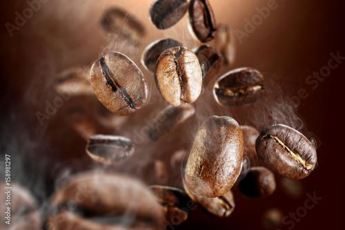 coffee grains macro photo