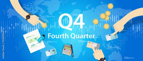 Fototapeta Q4 fourth quarter business report target corporate financial result obraz