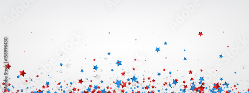 Obraz White banner with colorful stars. - fototapety do salonu