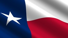 Waving Flag Of Texas State. 3D...
