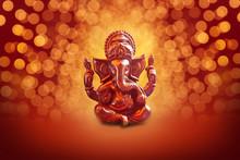 Lord Ganesha With Blured Bokhe...