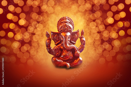 Lord Ganesha with Blured bokhe background фототапет