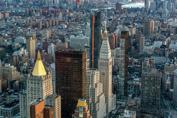 Fototapeta Nowy York Manhattan skyline from above, New York City