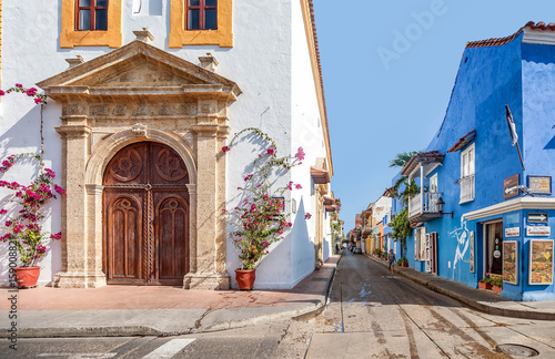 Colorful houses in the old ...