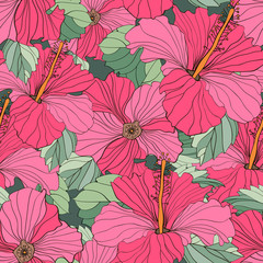 Panel SzklanySeamless vector floral patterns