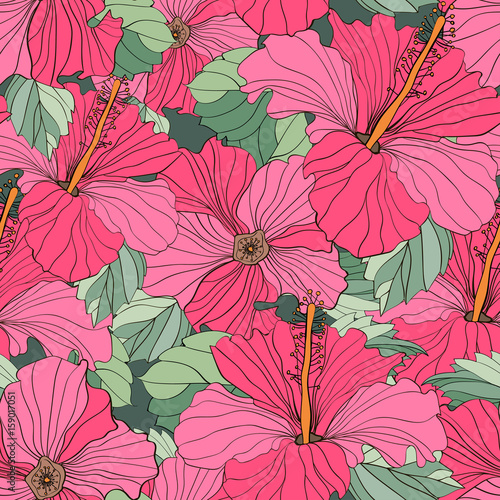 Seamless vector floral patterns - 159017051