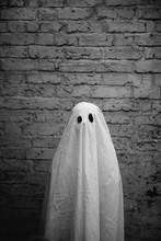 Little Boy In Halloween Ghost Costume