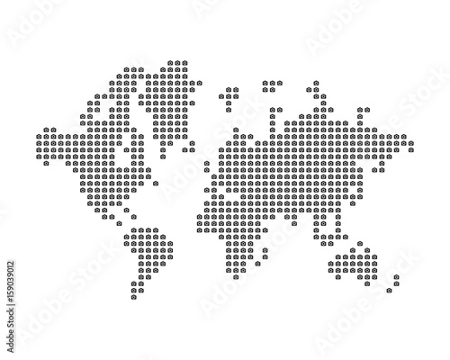 Türaufkleber Weltkarte The world map consists of icon photo camera. Concept for photographer. Flat vector illustration EPS 10