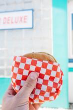 Burger From Rustic Vintage American Diner