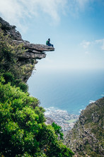 Hiker On An Exposed Mountain L...