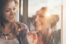 Two Beautiful Girls On Sunset