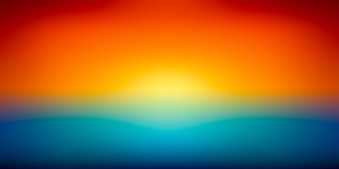 Panel Szklany Abstract vector mesh background, color gradient, orange and blu, smooth sunset, vector wallpaper