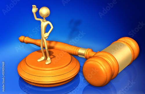 Photo Witness Law Concept With The Original 3D Character Illustration