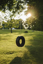 Tire Swing On Lazy Summer Afternoon