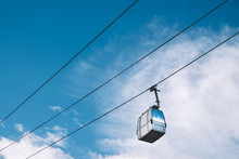 Cable Car With The Cloudy Blue...