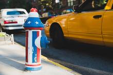 American Flag Fire Hydrant