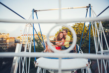 Ginger Couple On A Ferris Wheel