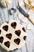 Cherry Pie Making Cherry Love Heart Pie