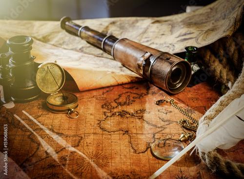 Obraz na płótnie Travel geography navigation concept background