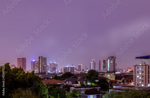 Poster Océanie Night cityscape Bangkok Thailand