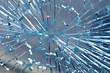 canvas print picture - zerstörte glasscheibe
