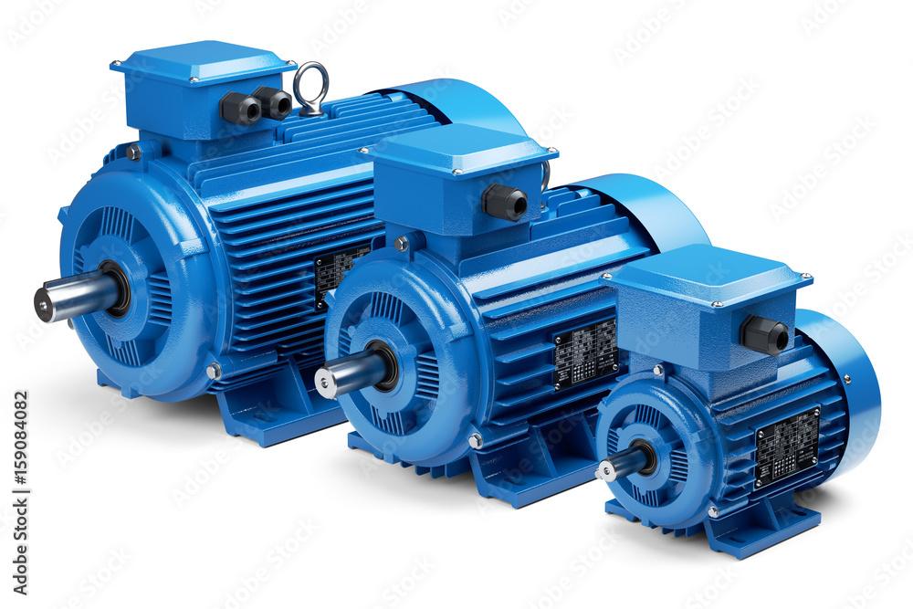 Fototapeta Three industrial electric motors