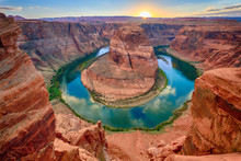 Horseshoe Bend At Sunset, Ariz...