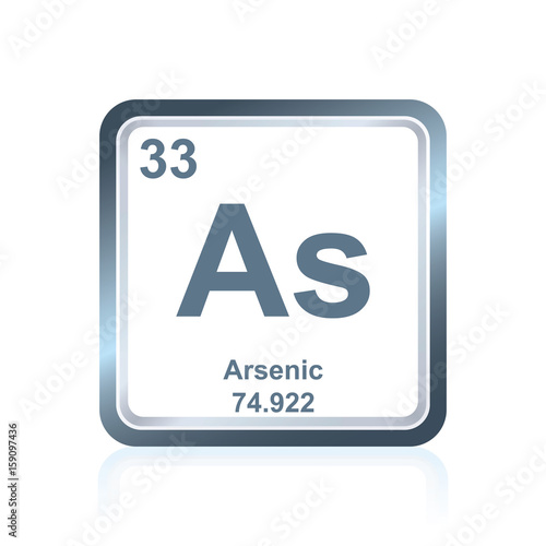 Photo Chemical element arsenic from the Periodic Table