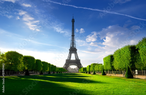 Morning on Champs de Mars Poster