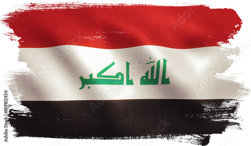 Vászonkép Iraq Flag