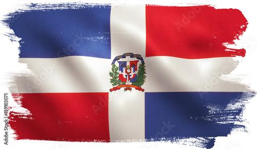 Obraz Dominican Republic Flag - fototapety do salonu