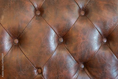 Fototapety, obrazy: Brown Leather sofa
