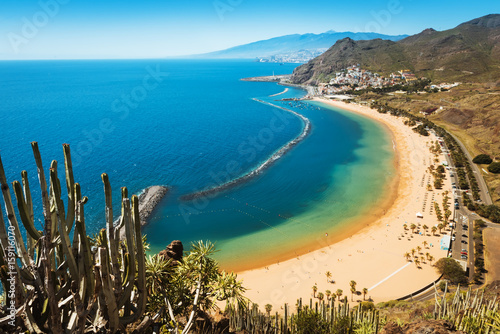 Canvas Print Amazing view of beach las Teresitas Tenerife
