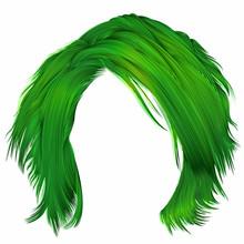 Trendy Woman Disheveled Hairs ...
