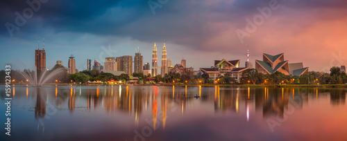 Cadres-photo bureau Kuala Lumpur Kuala Lumpur Panorama. Cityscape image of Kuala Lumpur, Malaysia during sunset.