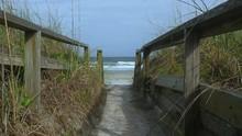 Sandy Path To Ocean Shore, Slo...