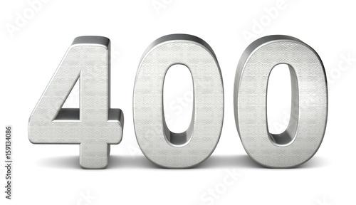 Fotografia  400 zahl silber 3d number silver struktur