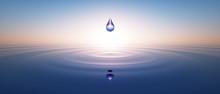Wassertropfen Im Weiten Ozean 2