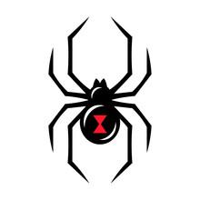 Black Widow Spider Icon