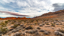 Red Rock Mountains In Desert