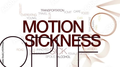 Stock Video of Motion sickness animated word cloud, text