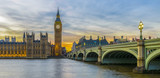 Fototapeta Big Ben - Big Ben and Houses of Parliament at sunset, London