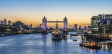 Panorama View Of Tower Bridge ...
