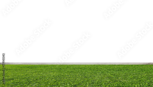 Fototapety, obrazy: Green grass lawn, with white wall
