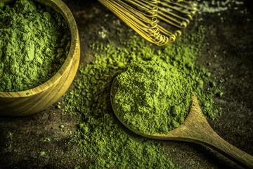 Fototapeta Do herbaciarni Matcha green tea