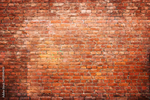 Photo sur Toile Brick wall texture vintage brick wall, background red stone urban surface