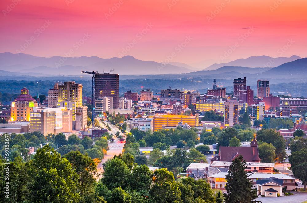 Fototapety, obrazy: Asheville, North Carolina, USA skyline.